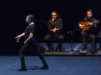 Israel Galván, en su actuación en Teatros del Canal