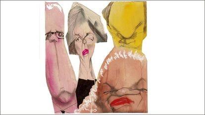 De izquierda a derecha, los escritores Bret Easton Ellis, Esther Tusquets, Salman Rushdie y Toni Morrison.