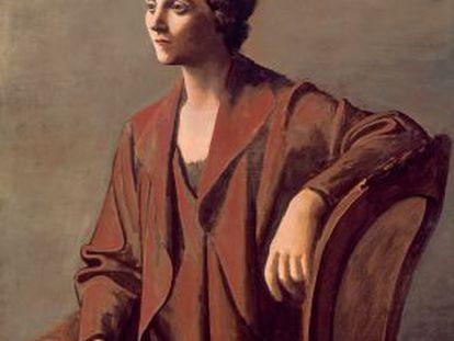 'Olga Picasso' pintada por Pablo Picasso en 1923