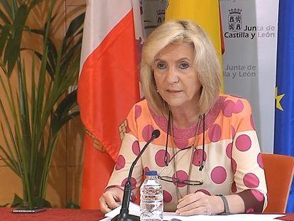 Verónica Casado, consejera de Sanidad de Castilla y León, durante una comparecencia el pasado 2 de mayo.