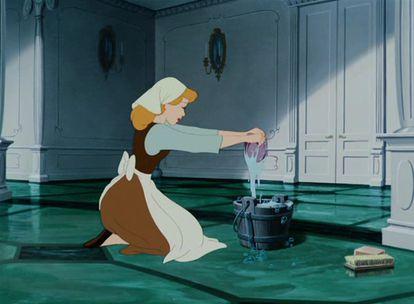Un fotograma de La Cenicienta, película de dibujos animados de Disney.
