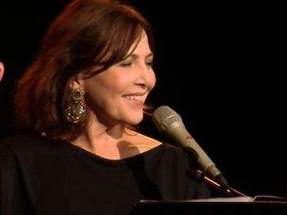 La cantante María Lavalle actuó ayer en el Teatro de la Abadía.