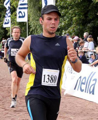 Andreas Lubitz, durante una carrera en 2009.
