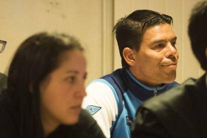 Melisa Abelleira y Ventura Lustres, en el juicio.