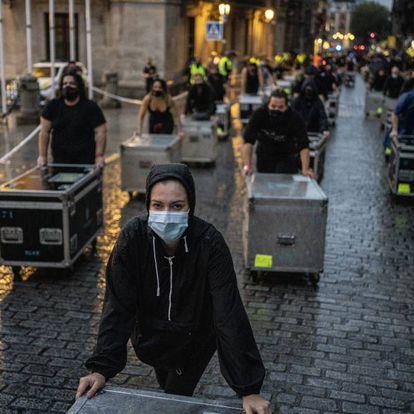 Movilización del colectivo 'Alerta Roja' en Madrid,