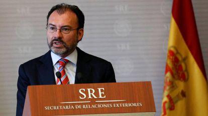El ministro mexicano de Exteriores, Luis Videgaray.