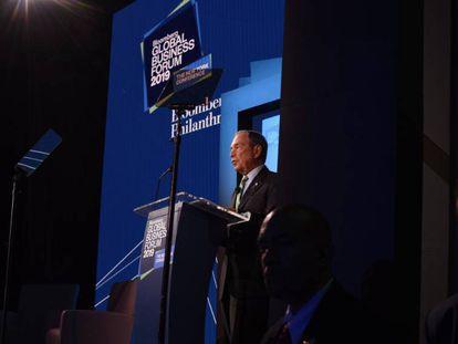 Michael Bloomberg durante el Global Bloomberg Business Forum.