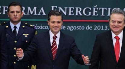 Enrique Peña Nieto en la presentación de su reforma energética.