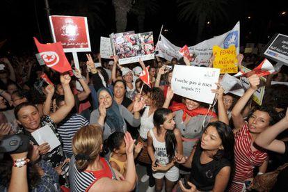 Manifestación por los derechos de la mujer en Túnez el pasado 13 de agosto.
