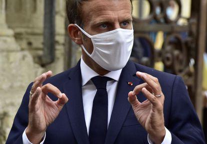 Macron, el pasado viernes en Condom.