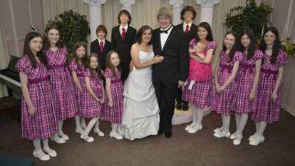 Louise Anna David Allen Turpin con sus hijos en Las Vegas, en una imagen publicada por ellos en Facebook.