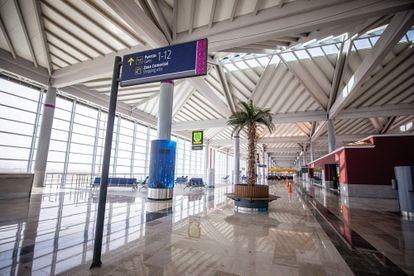 Vista general de la Terminal 1 del Aeropuerto Internacional Felipe Ángeles.