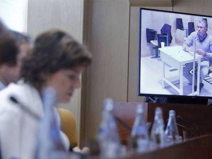 Granados comparece por videoconferencia en la Asamblea de Madrid.