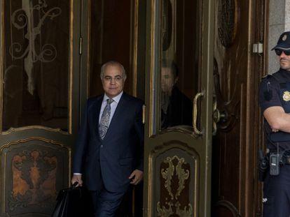 El juez Pablo Llarena, en el Tribunal Supremo tras reactivar la euroorden de arresto contra Puigdemont, en Madrid, el 14 de octubre de 2019.