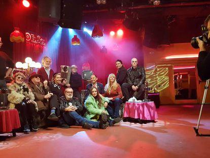 Algunas de las personas que aparecen en el documental de Telemadrid sobre la Movida madrileña.
