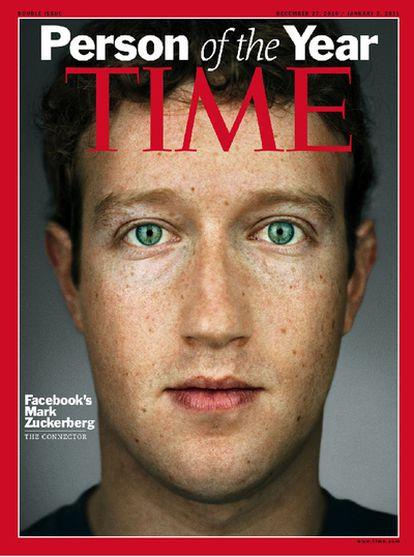 Portada de la revista Time con Mark Zuckerberg