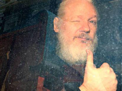 Julian Assange, tras su arresto en Londres, el pasado abril.