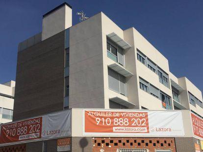 Promoción de viviendas para alquiler en Torrejón de Ardoz (Madrid), en una imagen de archivo.