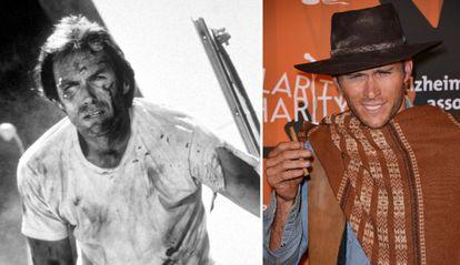 Clint Eastwood y, a la derecha, su hijo Scott.