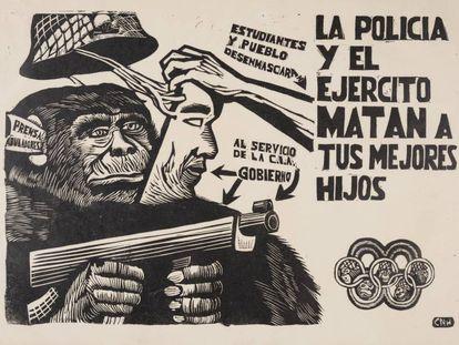 Un cartel del movimiento estudiantil mexicano de 1968.