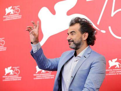 Pablo Trapero en el último Festival de Venecia de cine.