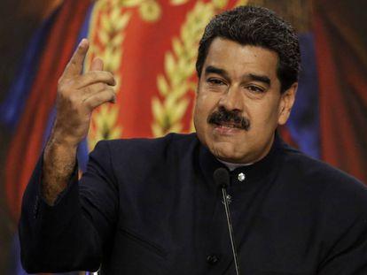 Nicolás Maduro, en una rueda de prensa.