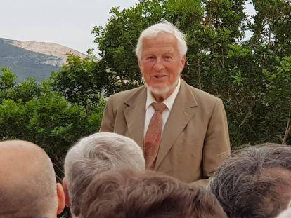 El Doctor Hermanfrid Schubart en el homenaje organizado por Les Freses en Dénia.