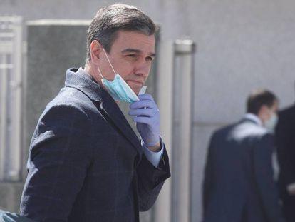 Visita de Pedro Sánchez la fábrica de la compañía Hersill en Madrid hace una semana.