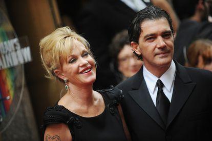 Antonio Banderas y Melanie Griffith, en la gala de los Tony de 2010.