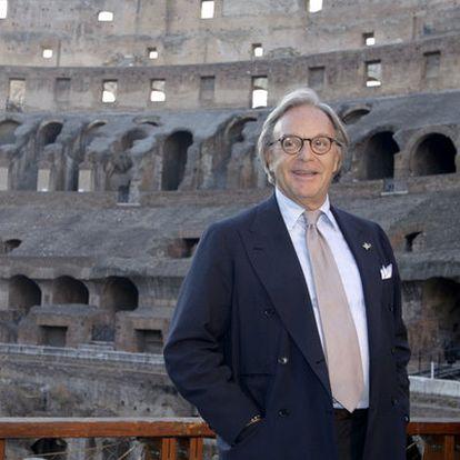 El empresario Diego della Valle, ante el Coliseo romano.