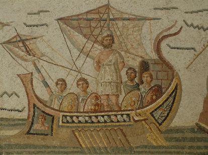 Mosaico de Ulises y las sirenas, en el Museo del Bardo de Túnez.