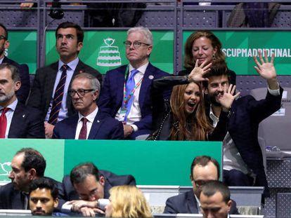 El rey Felipe VI, el ministro de Cultura y Deporte, José Guirao, la cantante Shakira, y su pareja Gerard Piqué. En vídeo, las declaraciones del presidente de Kosmos.
