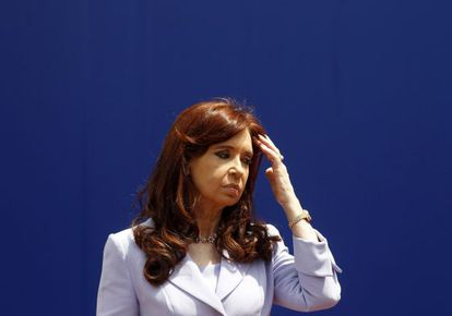 La presidenta de Argentina, Cristina Fernández, este miércoles durante la cumbre de Mercosur que se celebra en Paraná, al norte de Buenos Aires.