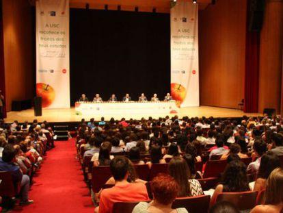 Acto de la Universidad de Santiago con los mejores alumnos de Selectividad.