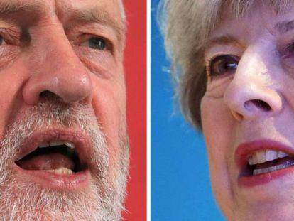 Elecciones en Reino Unido 2017. Jeremy Corbyn y Theresa May. En vídeo, las reacciones de los líderes tras el avance de los resultados.