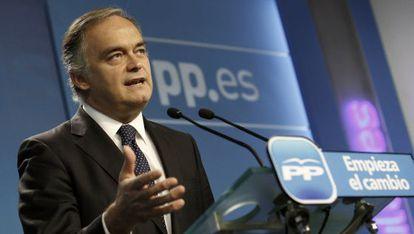 El vicesecretario de Comunicación de este partido, Esteban González Pons.