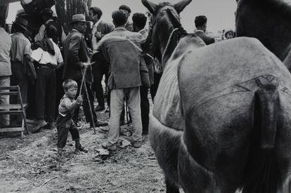 'Feria de Sevilla' o 'Feria de ganado', realizada en 1961 y copiada por el autor en 1992.