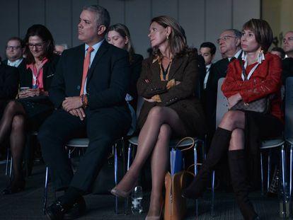 El presidente Iván Duque, la vicepresidenta Marta Lucía Ramírez y la ministra Alicia Arango, en una imagen de archivo.