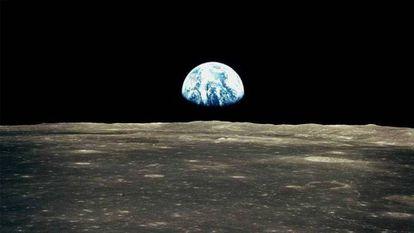 La Tierra, vista desde la Luna.