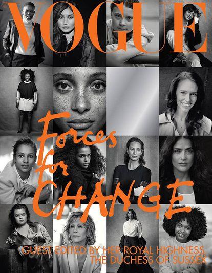 La portada del número de septiembre de 2019 de 'Vogue UK' coordinado por Meghan Markle.