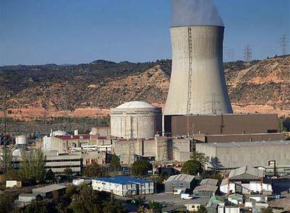 El complejo de la central nuclear de Ascó, en Tarragona, en el que se detectó la fuga radioactiva.