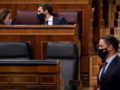 Moción de censura de Vox al gobierno de coalición formado por PSOE y Podemos en el Congreso de los Diputados.