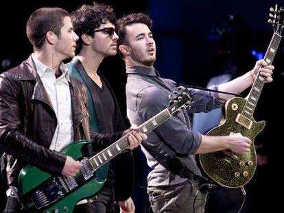 Los Jonas Brothers, en el Festival de Viña del Mar (Chile) en 2013.