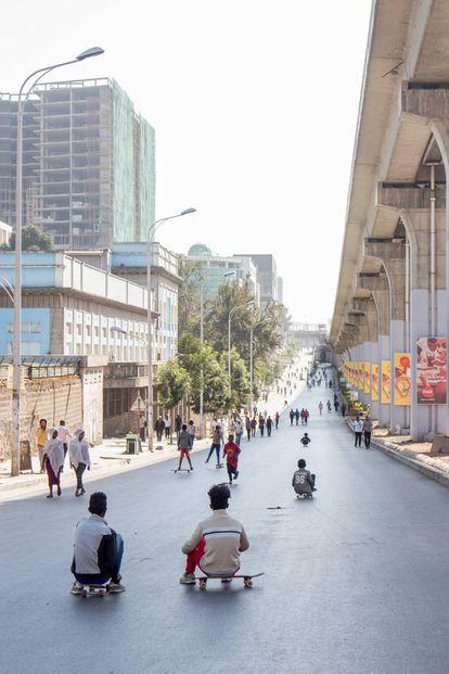 Open Streets en Adís Abeba.