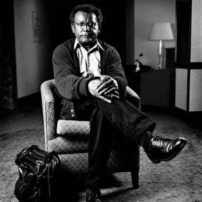 El músico de jazz Anthony Braxton (Chicago, 1945).