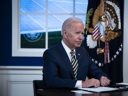 El presidente de Estados Unidos, Joe Biden, este viernes en Washington (EE UU).