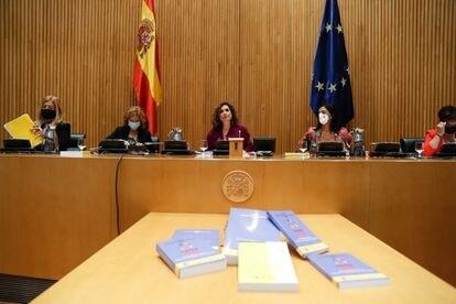 Un instante de la presentación de los Presupuestos Generales del Estado, este miércoles.