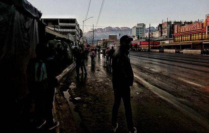 La avenida Cuauhtémoc en la ciudad de Monterrey