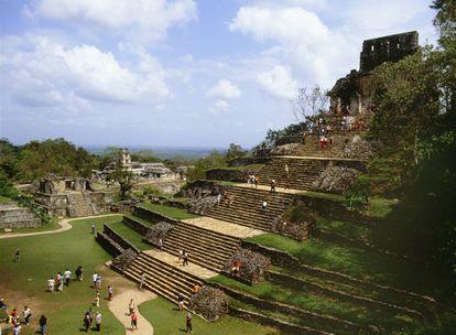 Turistas en las ruinas de Palenque, el año pasado.