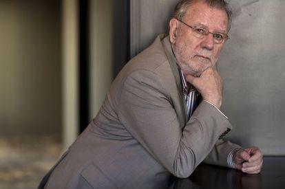 Oscar Hahn, poeta chileno ganador del premio Loewe, en Madrid.